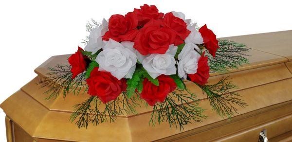 цветочная композиция на гроб 4