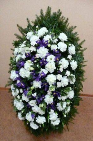 Венок на похороны из живых цветов 02