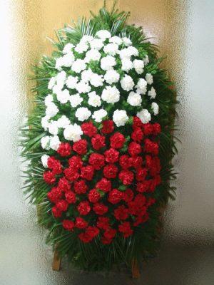 Венок на похороны из живых цветов 04