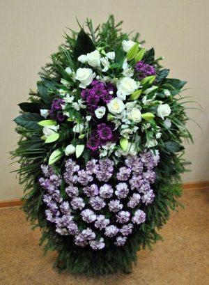 Венок на похороны из живых цветов 07