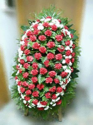 Венок на похороны из живых цветов 08