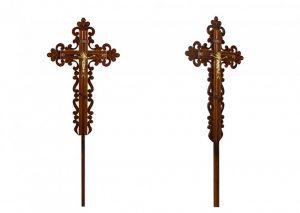 Крест на могилу Ажурный