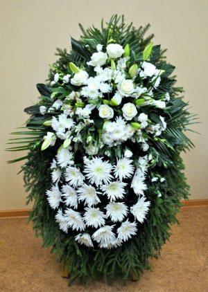 Венок на похороны из живых цветов 10