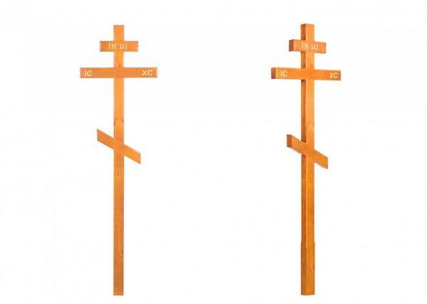 Крест на могилу Прямой высокий светлый