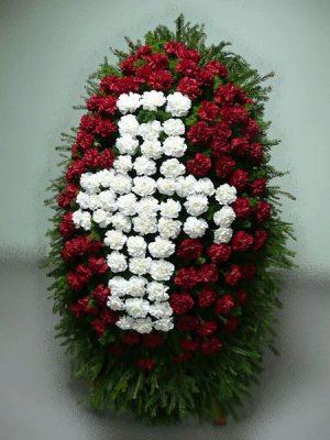 Венок на похороны из живых цветов 11