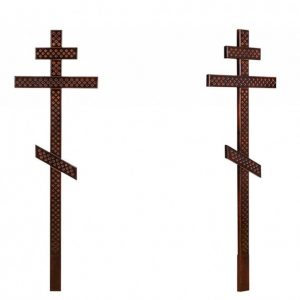 Крест на могилу Прямой с накладками 210