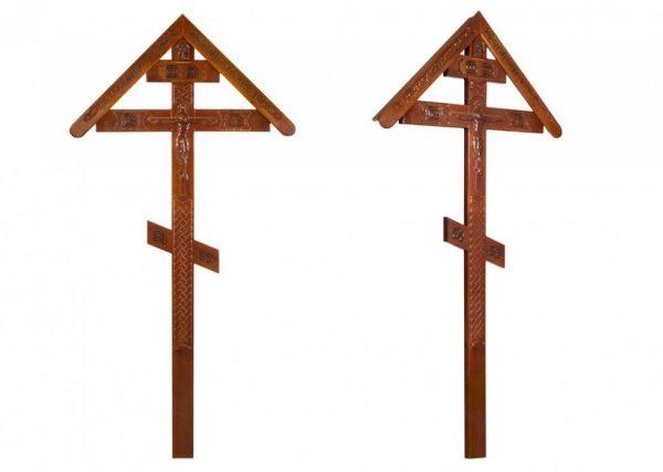 Крест на могилу Резной №3 с крышкой