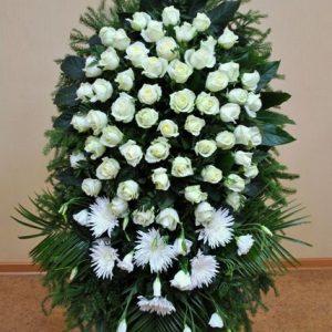 Венок на похороны из живых цветов №19