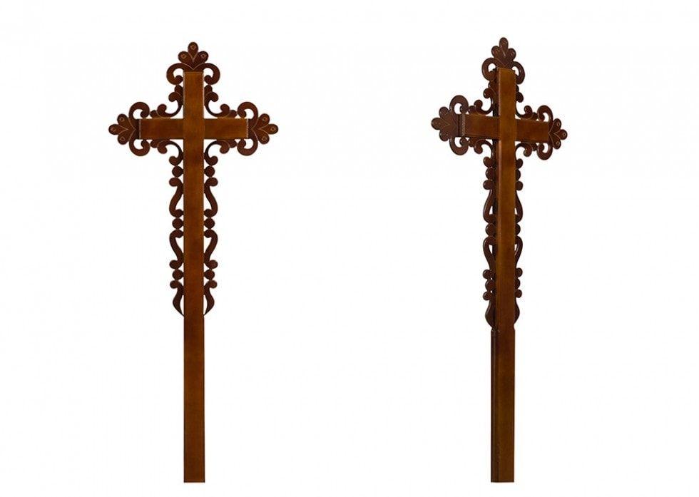 Крест на могилу Ажурный католический