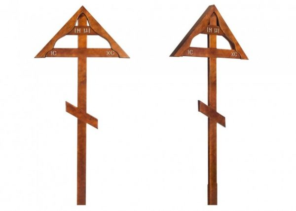 Крест на могилу Домик