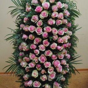 Венок на похороны из живых цветов №22