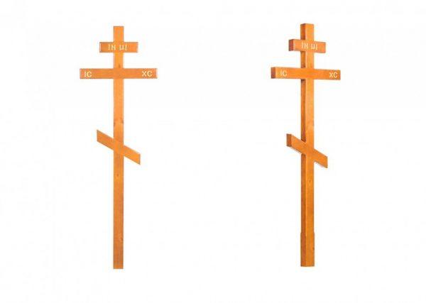Крест на могилу Сосна светлый
