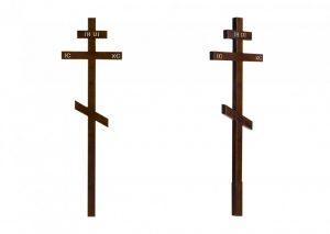 Крест на могилу Сосна темный