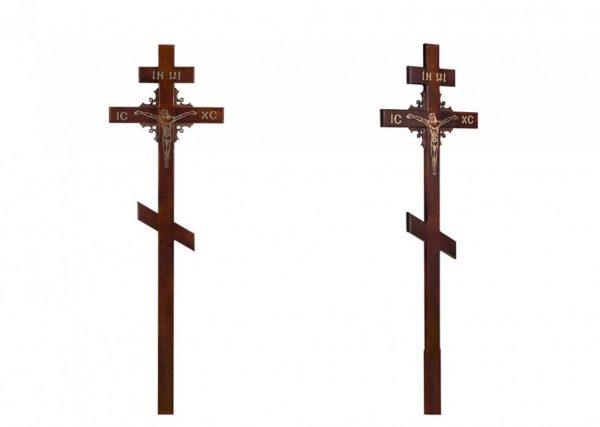 Крест на могилу Угловой узор