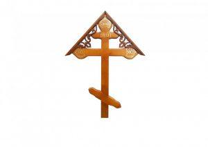 Крест на могилу Фигурный с крышкой