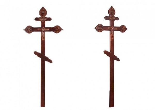 Крест на могилу Фигурный с орнаментом