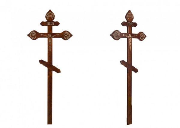 Крест на могилу Фигурный с распятьем