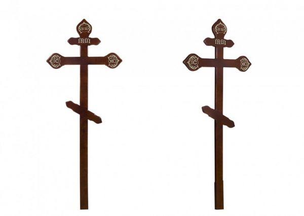 Крест на могилу Фигурный темный