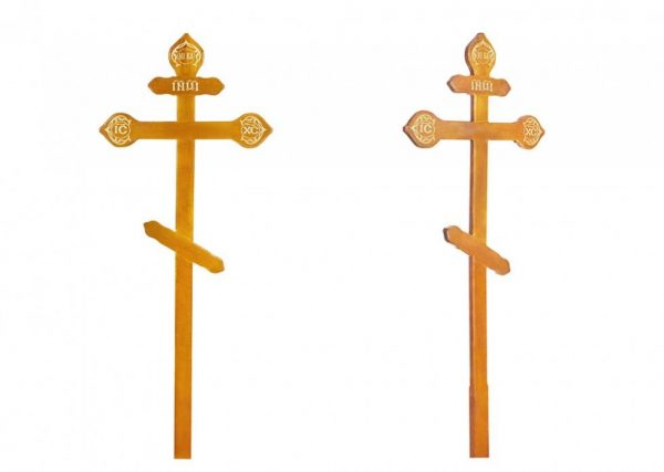 крест на могилу Фигурный светлый
