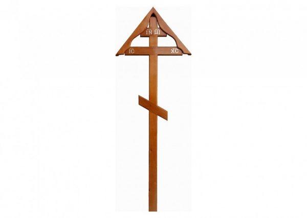 Крест на могилу Домик светлый