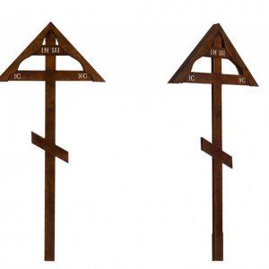Крест на могилу Домик темный