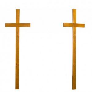 Крест на могилу Католический светлый