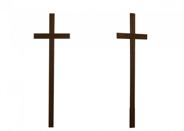 Крест на могилу Католический темный
