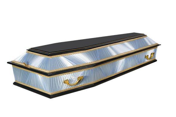 гроб лакированный деревянный Б6 комбинированный