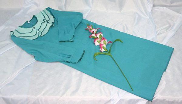 Платье женское похоронное голубое