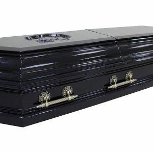 гроб Пегас темный , двухкрышечный, 8 граней