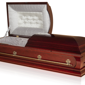 гроб Торонто двухкрышечный цвет махагон