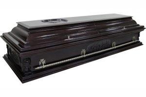 гроб Вегас Ангел темный, двухкрышечный саркофаг