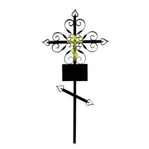 Крест на могилу Завитушка металл