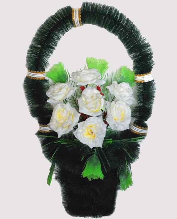 Корзина на могилу из искусственных цветов ks 2