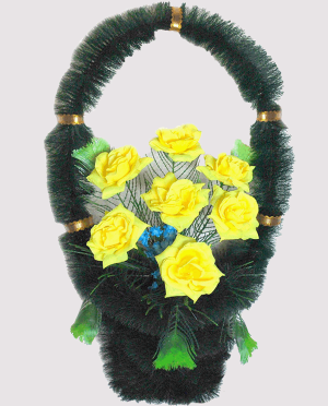 Корзина на могилу из искусственных цветов ks 3