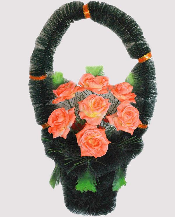 Корзина на могилу из искусственных цветов ks 4