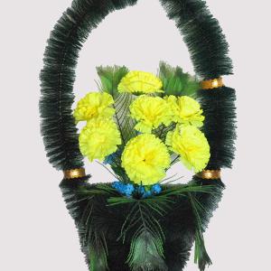 Корзина на могилу из искусственных цветов ks 6