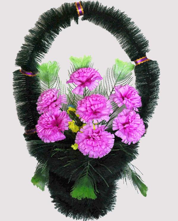 Корзина на могилу из искусственных цветов ks ks 7