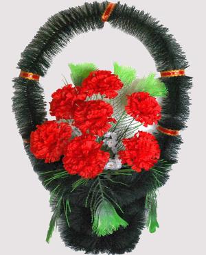 Корзина на могилу из искусственных цветов ks 8