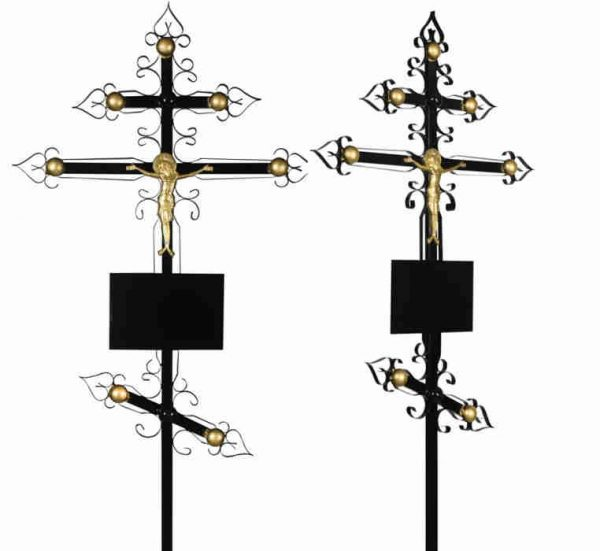 Крест на могилу Купола металл