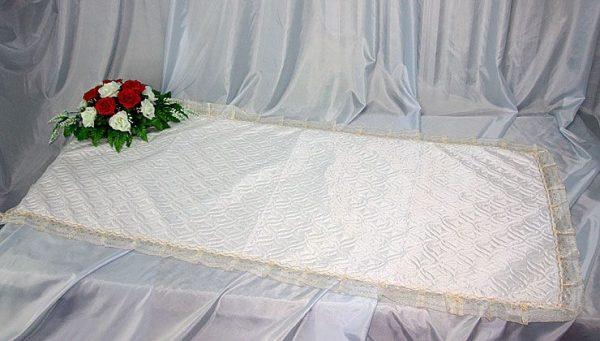 Покрывало в гроб стежка