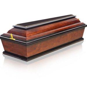гроб детский 4 грани темный