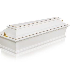 гроб детский 4 грани белый