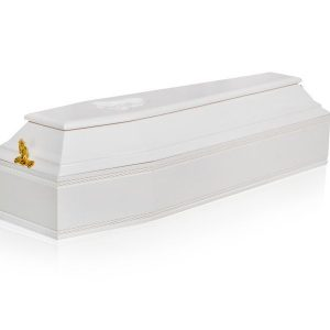 Гроб детский 6 граней белый