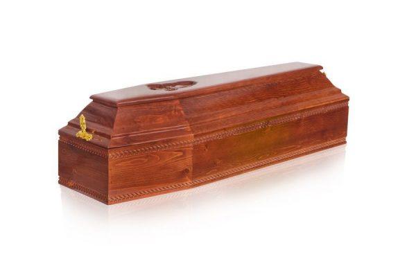 Гроб детский 6 граней темный