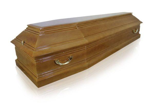 Гроб Пегас светлый 6 граней