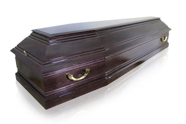 гроб Пегас 6 граней темный