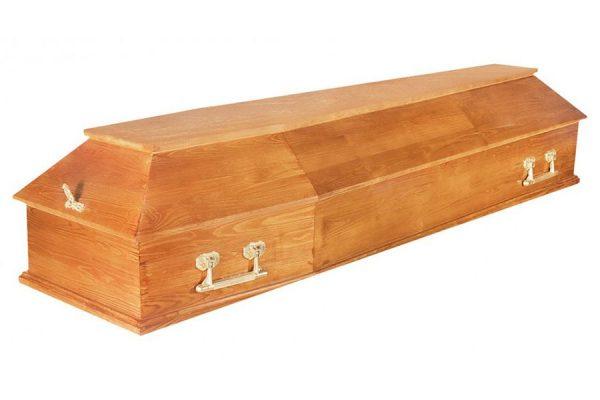 Гроб Питер 6 граней светлый