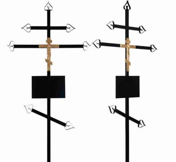 Крест на могилу Православный металл