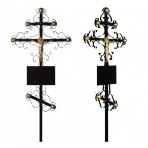 Крест на могилу металлический Вензеля